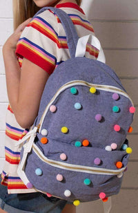 pom pom backpack