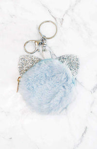 furry kitty coin purse keyring