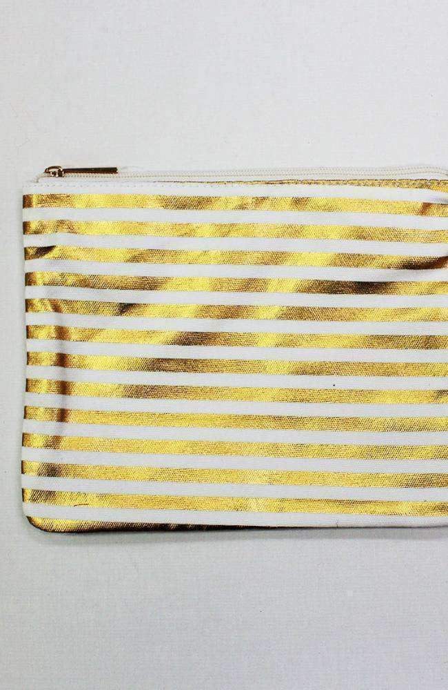 gold stripes pencil case