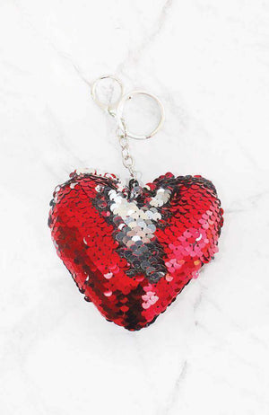 reversible sequins heart keying