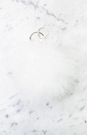 feather pom pom keyring