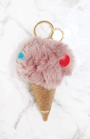 spotty ice cream keyring