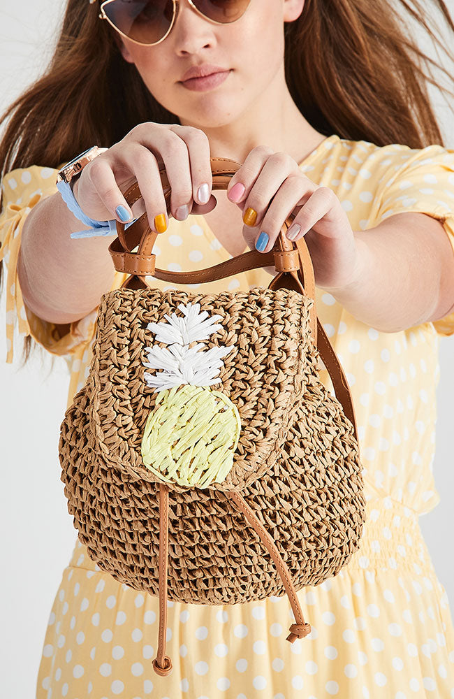 Pineapple Straw Backpack