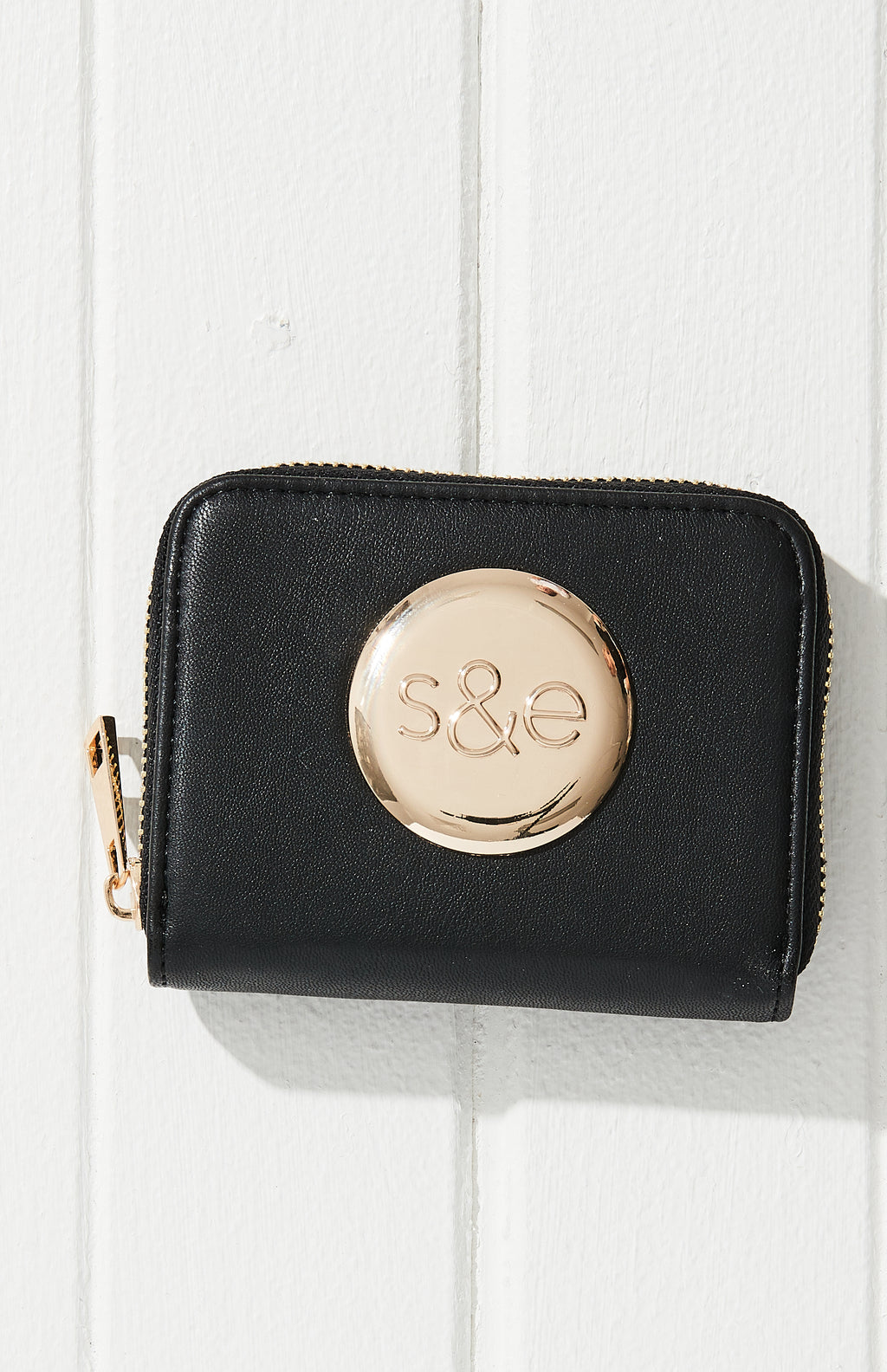 Logo Vegan Leather Mini Wallet Purse