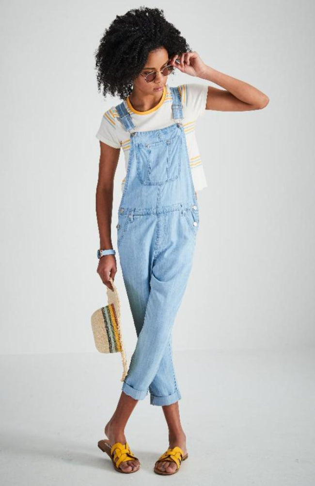 kerry light blue washed tencel 7/8 overall