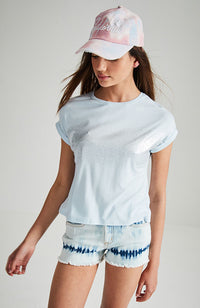 trina spray paint foil slouchy tee