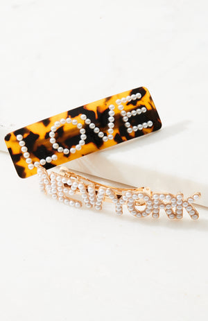 love new york hairclips