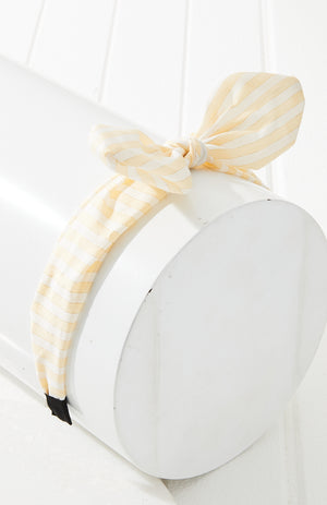 lurex stripe headband