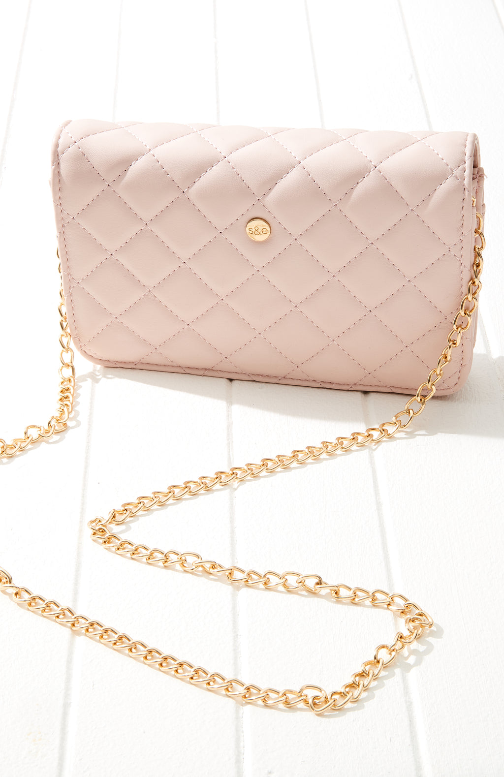 Estella Quilted Vegan Leather Crossbody Flap Bag