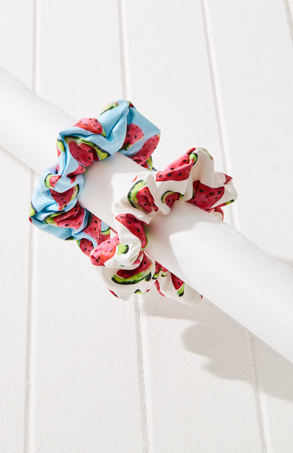watermelon print scrunchie set