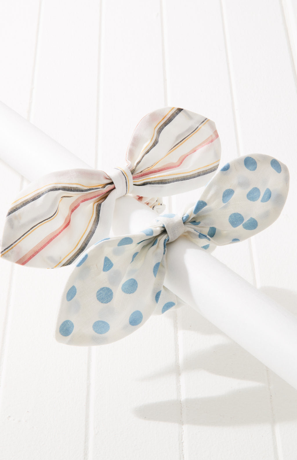 joy polka dot striped knot bow scrunchie hair tie set