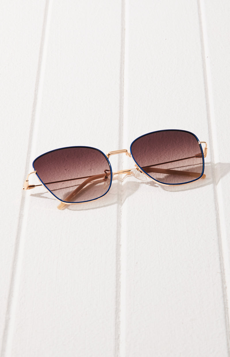 French Inspired Wire Frame Aviator Sunglasses