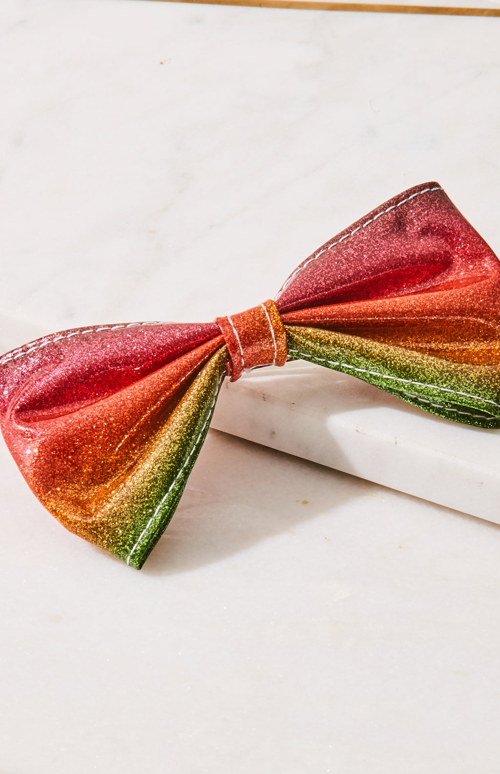 rainbow glitter hairclip