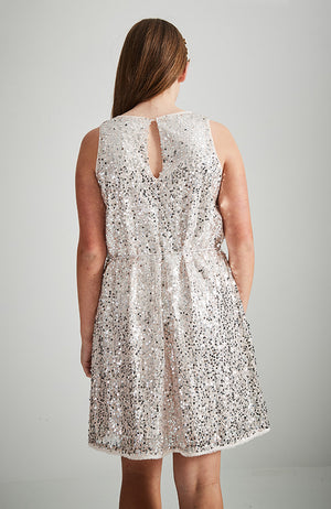 harper pink sequins a line party dress