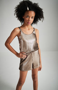 miranda bronze sequins party playsuit