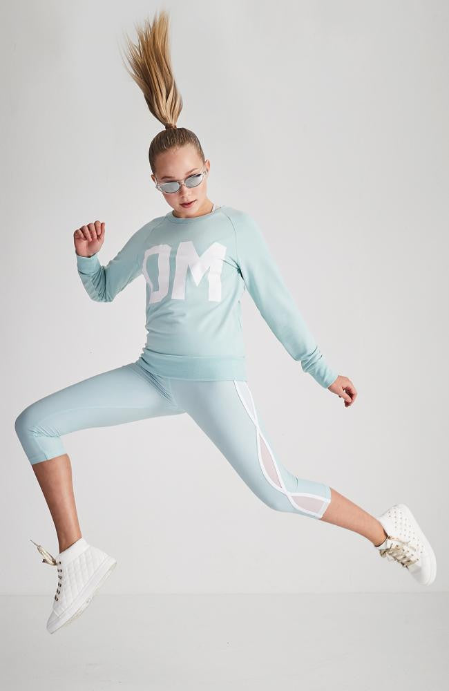 allegra pastel mesh active sweat top