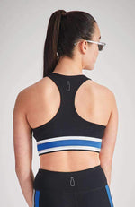 fatima metallic stripe active crop top