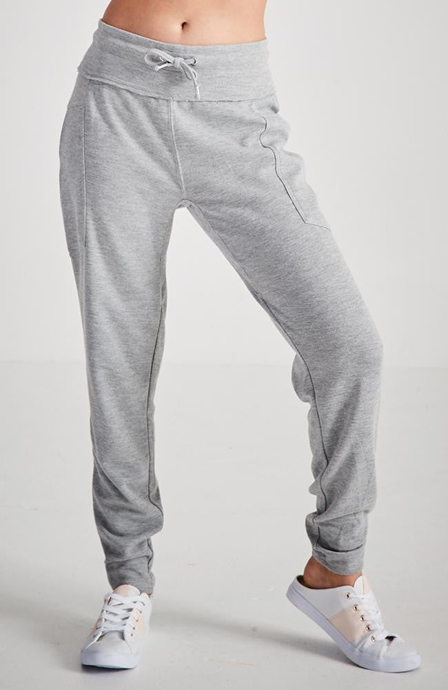 imani grey marle ruched relaxed jogger sweat pant