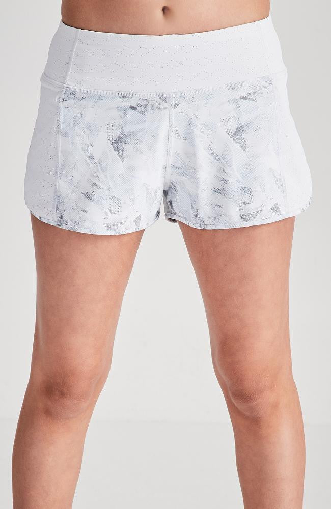 olivia white snakeskin running active short