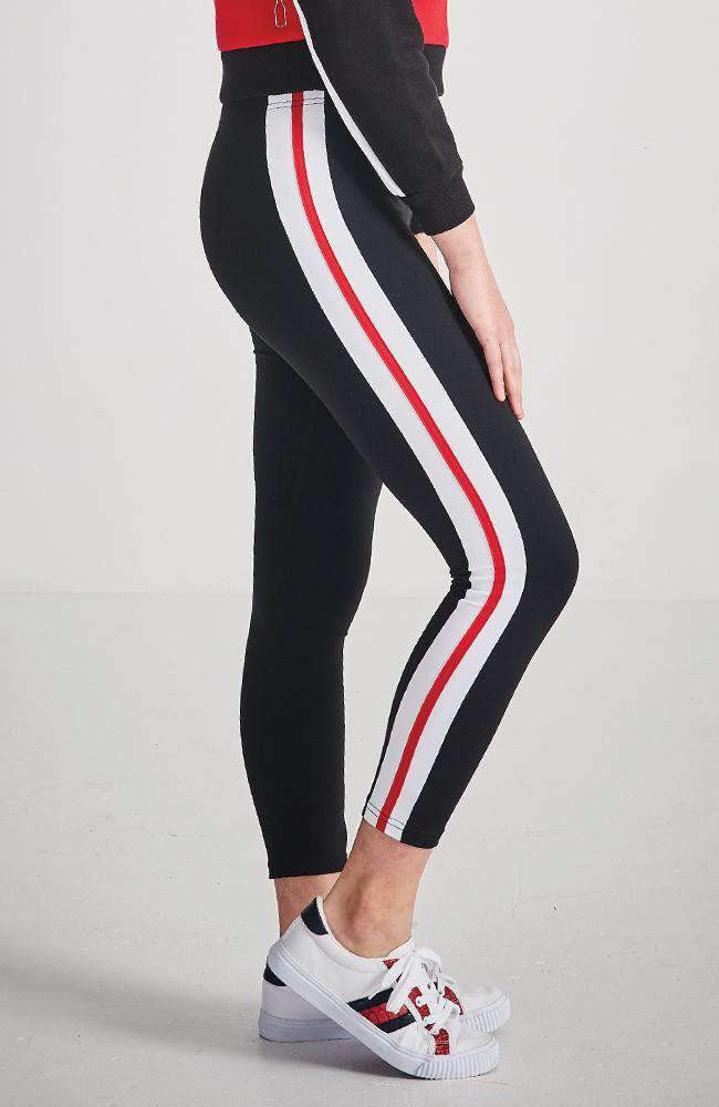 rosabel stripe drawsting active 7/8 legging