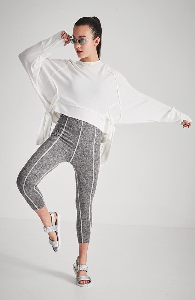 imani white hooded active sweat top