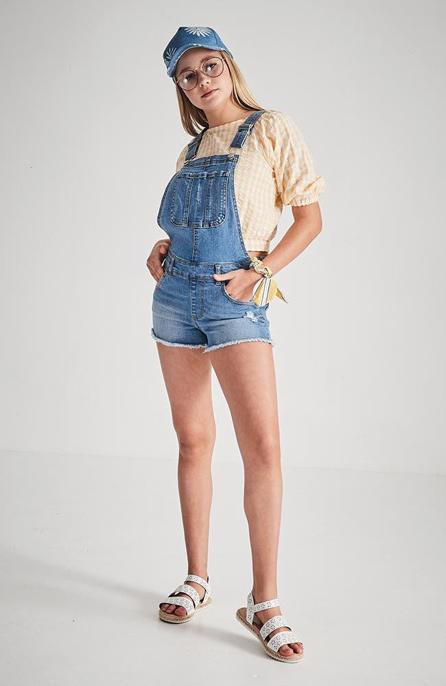 micah distressed denim overall