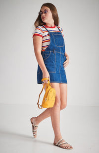 weda denim pinafore dress