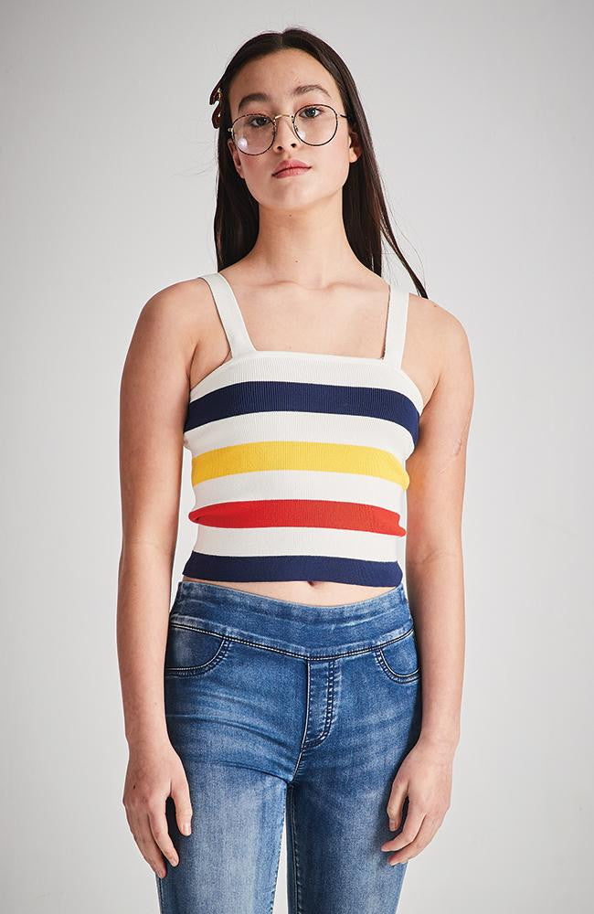 primrose stripe knit crop top