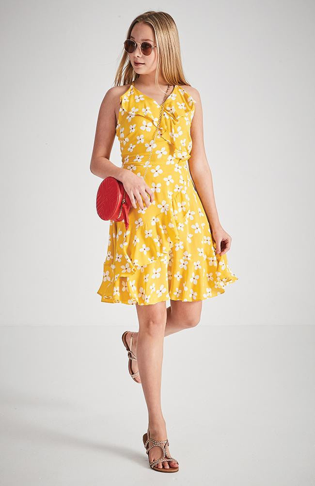 lora yellow floral summer dress