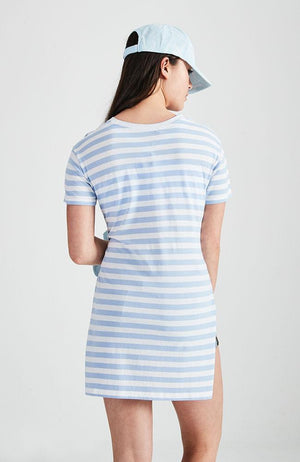 knot front stripped tee