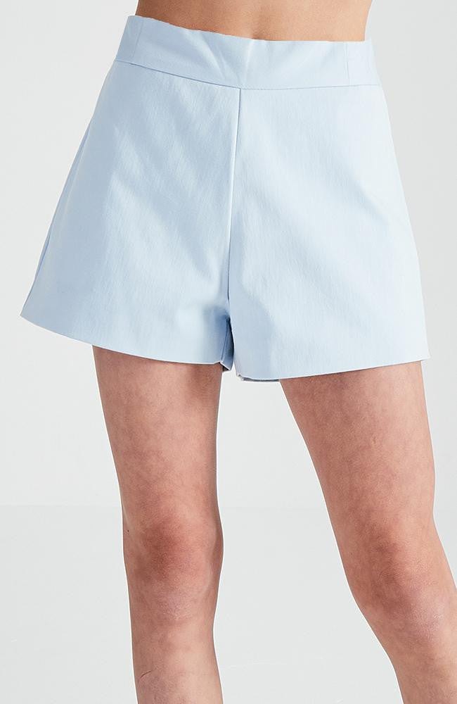 beyonce pale blue high waisted tailored party short