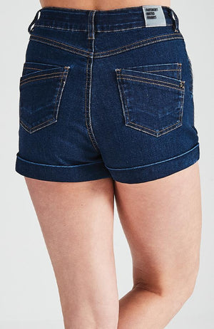 dominique high-rise rolled cuff short