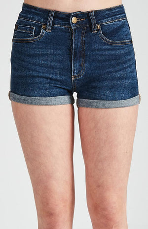 shannon high-rise rolled cuff denim short