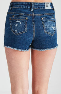 sharon distressed raw hem cutoff denim short