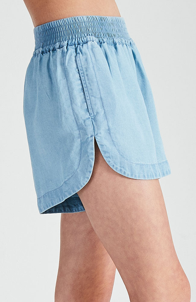 kerry light blue washed tencel vintage short