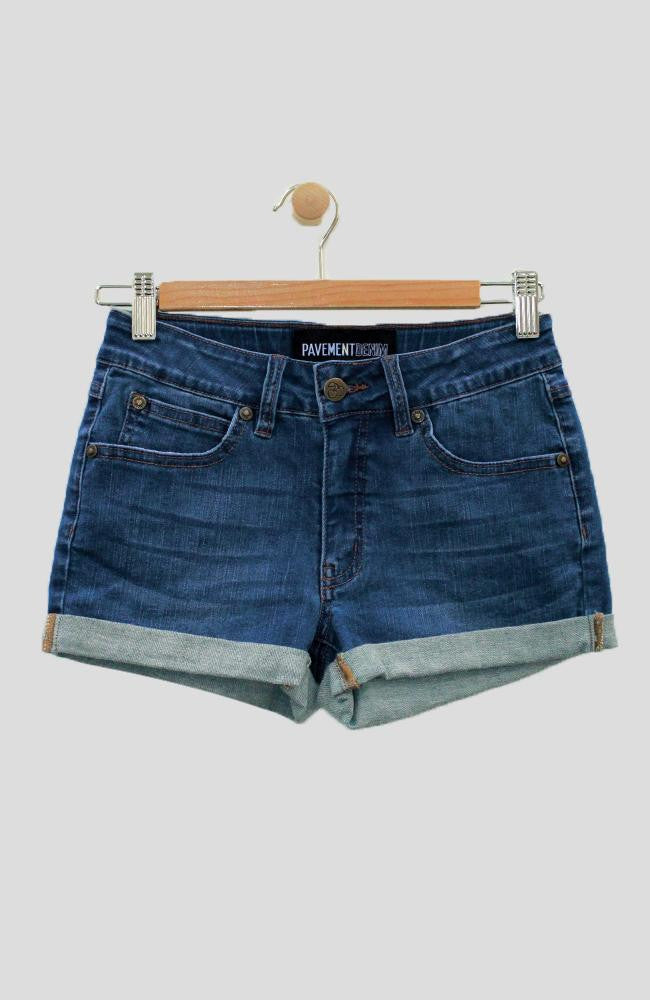 leticia rolled cuffed denim short