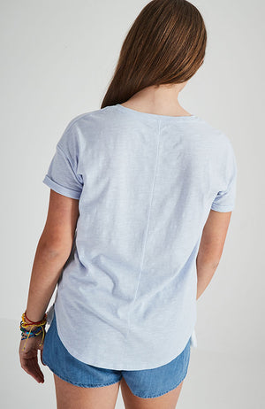 upper west side light blue graphic tee