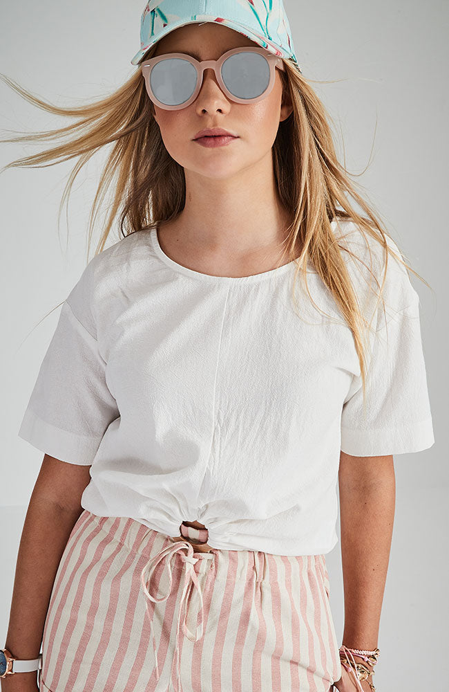 jenna short sleeve hoop top