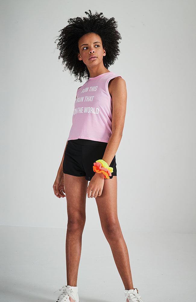 cassey pink candy slogan active tank top
