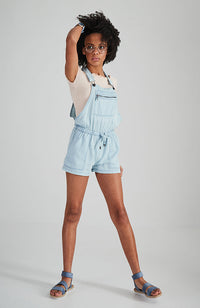 nikita light blue washed light weight short overall