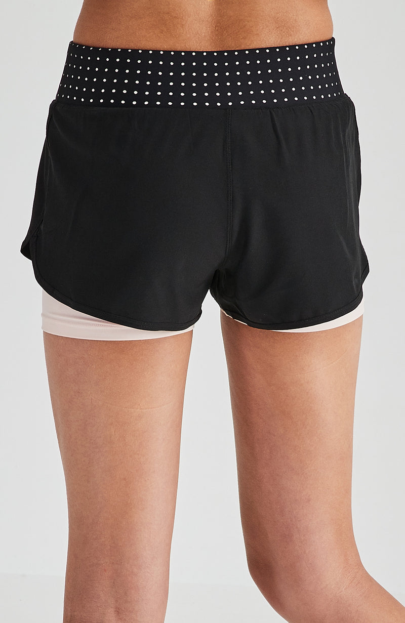 daria black 2 layer active short