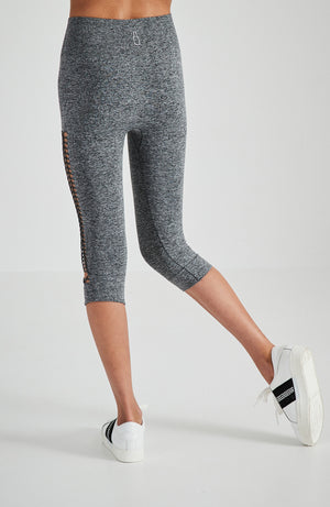 aphrodite grey marle knitted 3/4 active legging
