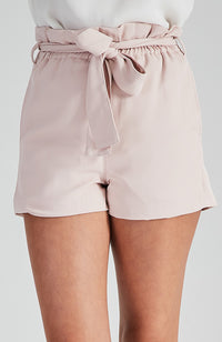 valencia pink high waisted tailored party short