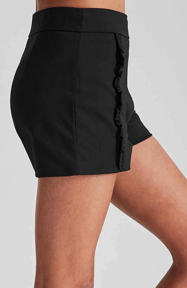 avril black tailored party short