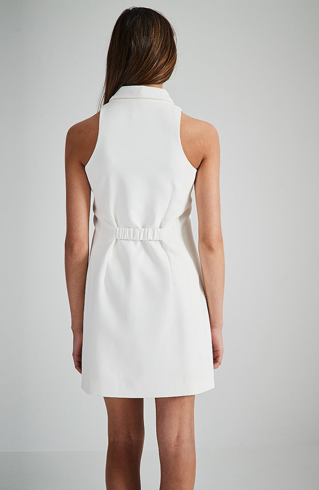 lavinia cream tailored tuxedo party dress