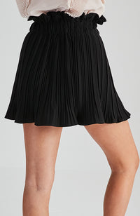 cleo black pleated paper bag high waisted party skirt