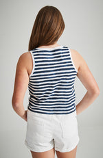 emily stripped knot sleeveless tee
