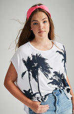 venice beach white with palm spring slouchy tee