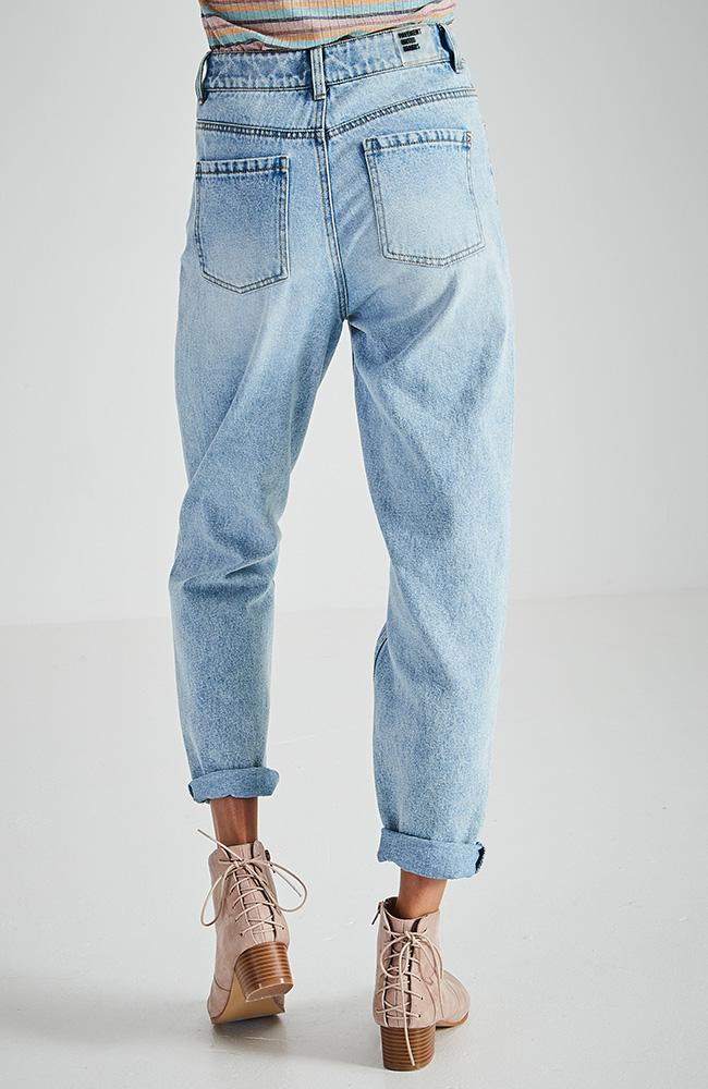 Girlfriend Light Blue 90S Inspired High Rise Relaxed Fit Jean Pants