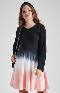 jamie black to pink dipe dye skater skirt party dress